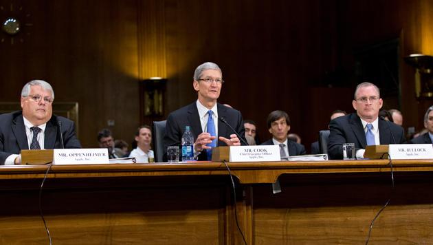 Tim Cook verteidigt Apples umstrittene Steuerpraxis (Bild: AP)