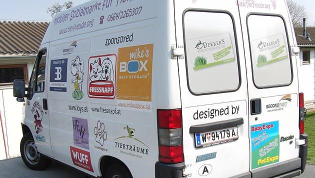 Mobiler Sozialmarkt für Tierhalter sucht Helfer (Bild: Verein Tierfreude)