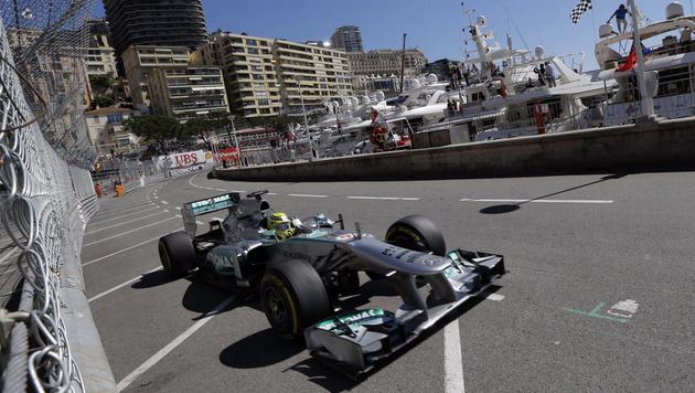 Nico Rosberg holt in Monte Carlo Pole vor Hamilton (Bild: AP)