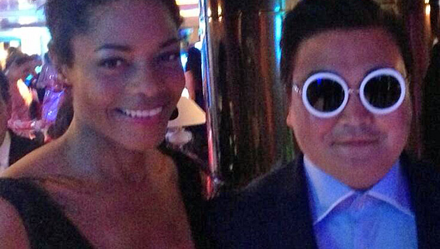 Psy-Doppelgänger narrte in Cannes die Promis (Bild: Twitter)