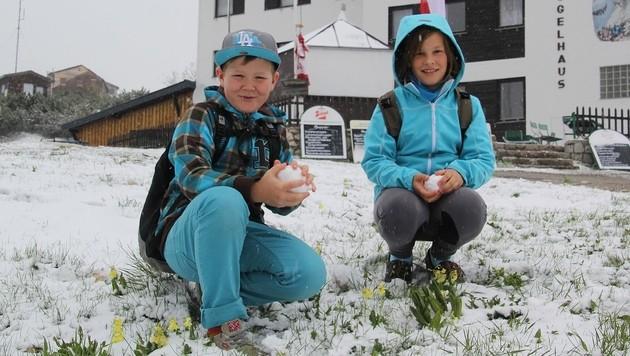 24. Mai: Minus 15,7 Grad und bis zu 40 cm Neuschnee (Bild: Marion Hšörmandinger)