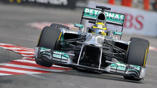 Rosberg gewinnt GP von Monaco vor Vettel und Webber (Bild: EPA)