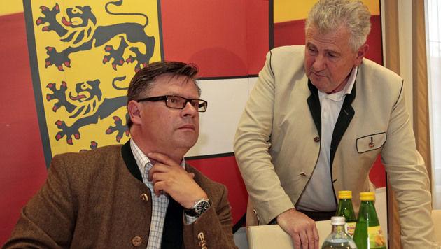 Wiedervereinigung von FPÖ und FPK auf Schiene (Bild: APA/GERT EGGENBERGER)