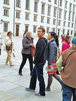 Mark Zuckerberg auf Wien-Urlaub mit seiner Frau (Bild: Privat/Korremann Rebecca)