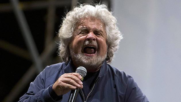 Beppe Grillo, der Gründer der Protestbewegung Fünf Sterne (Bild: EPA)