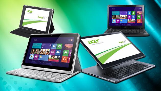 Ein erster Blick auf Acers neues Heer von Touch-Geräten (Bild: Acer, krone.at-Grafik)