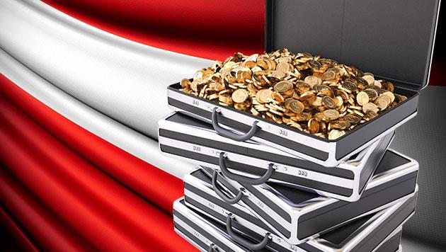 Österreichs Millionäre sind so reich wie nie zuvor (Bild: thinkstockphotos.de, krone.at-Grafik)