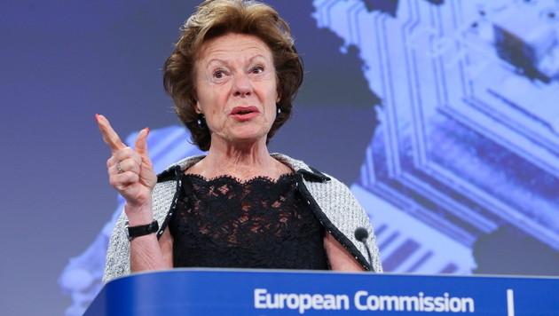 EU-Kommissarin schimpft über teure Flughafen-WLANs (Bild: EPA)