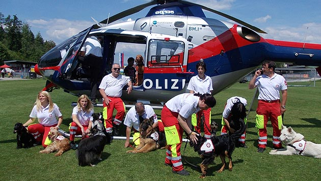 Einsatzübung der Rettungshunde in Kärnten (Bild: zVg)