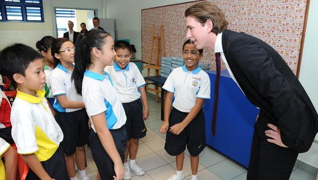 Sebastian Kurz auf Besuch in Singapur: Viele neue Ansätze (Bild: BMI)