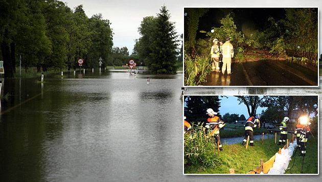 Hochwasser: Generalalarm in N�, Muren in Vbg (Bild: APA/REINHARD MOHR)