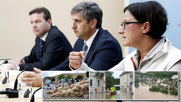 """Hochwasser-Krisenstab: Kosten """"nicht abschätzbar"""" (Bild: APA)"""