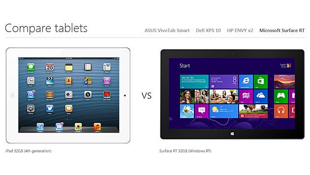 Microsoft heizt Tablet-Krieg mit Apple weiter an (Bild: Screenshot windows.microsoft.com)