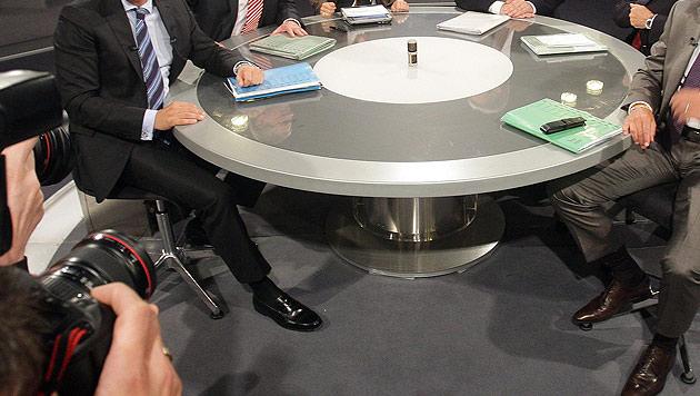 Elefantenrunden: SPÖ und ÖVP geben Privat-TV Korb (Bild: APA/Georg Hochmuth)