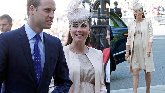 Kate rundum glücklich beim 60. Jubiläum der Queen (Bild: AP)