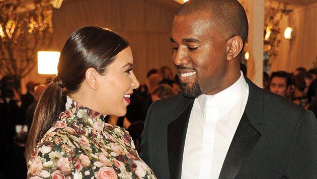 Kim Kardashian: Geburt ohne Kanye West (Bild: EPA)