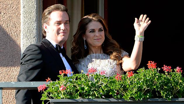 Schöne Prinzessin Madeleine hat ihren Chris geheiratet (Bild: EPA)