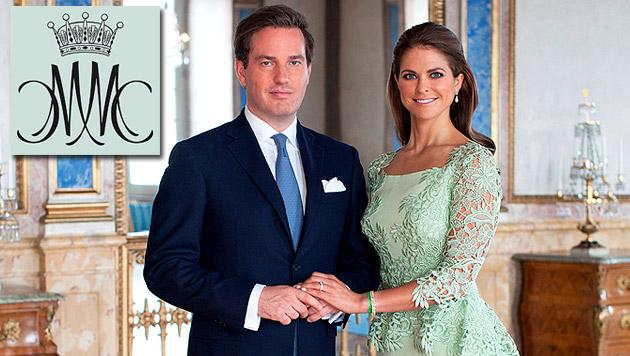 Schöne Prinzessin Madeleine hat ihren Chris geheiratet (Bild: Kungahuset.com, krone.at-Grafik)