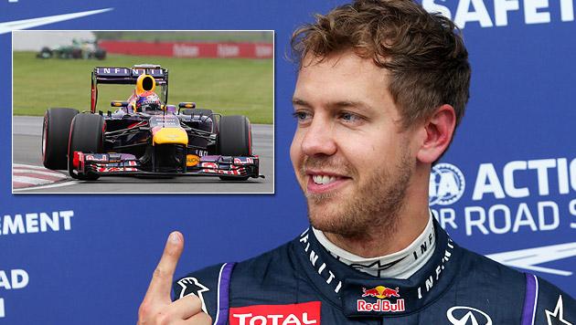 "Champ Vettel holt in Montreal ""Pole"" vor Hamilton (Bild: AP)"