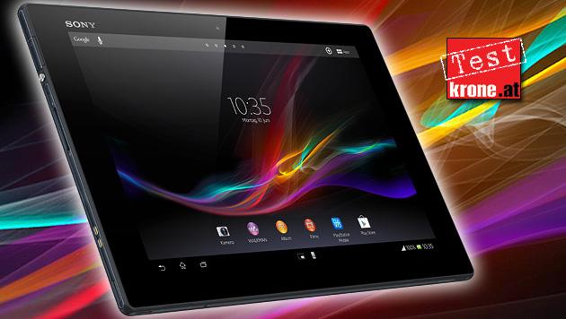 Extrem dünn, flach: Xperia Tablet Z sägt am iPad-Thron (Bild: Sony, kone.at-Grafik)