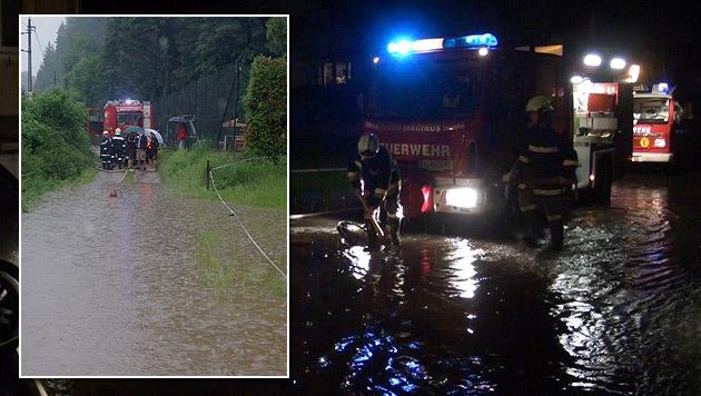 Wetterkapriolen reißen nicht ab - kein Aufatmen in NÖ (Bild: Einsatzdoku.at,  FF Pusterhofer/FF Pockreiter)