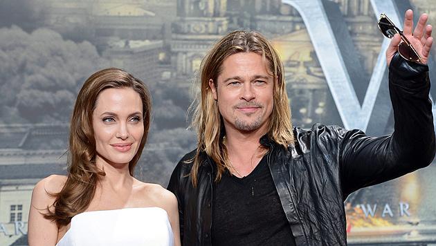 Pitt teilt sich Hochzeitsplanung mit Jolie (Bild: EPA)