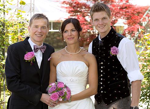 Andreas Goldberger hat seine Astrid geheiratet (Bild: APA/MICHAEL EMHOFER)