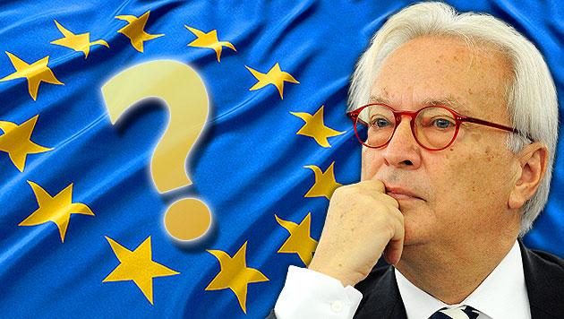 Wir Österreicher kennen unsere EU-Abgeordneten nicht (Bild: EPA, thinkstockphotos.de, krone.at-Grafik)