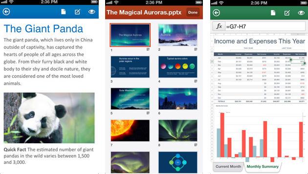 Microsoft bringt Office 365 auf iPhone und iPad (Bild: iTunes App Store)