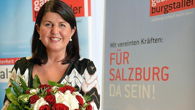 Sbg: Burgstaller lässt ihr Polit-Leben Revue passieren (Bild: APA/BARBARA GINDL)