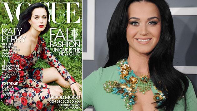"""Perry auf erstem """"Vogue""""-Cover ganz natürlich (Bild: AP)"""