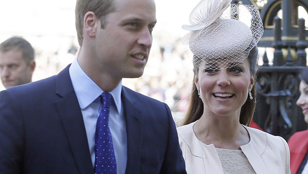Kate und William kennen Baby-Geschlecht nicht (Bild: AP)