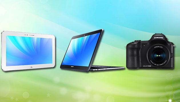 Samsung kündigt ganze Armada von Alleskönnern an (Bild: Samsung, thinkstockphotos.de, krone.at-Grafik)