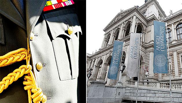 Generäle kaufen sich Uni-Lehrgang um 500.000 Euro (Bild: APA/ROBERT JAEGER, APA/GEORG HOCHMUTH)