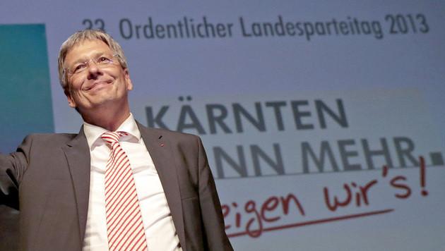 Peter Kaiser als SPÖ-Chef in Kärnten bestätigt (Bild: APA/GERT EGGENBERGER)