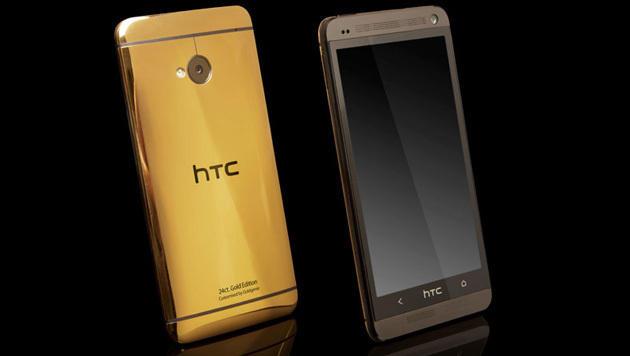 Goldenes HTC One ist viermal so teuer wie Normalvariante (Bild: Goldgenie)