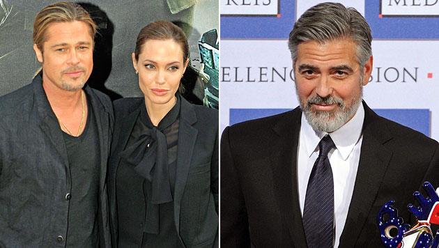 Jolie erteilt Clooney Alkoholverbot für Hochzeit (Bild: AP, EPA)