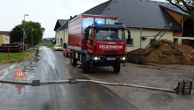 Regenfälle hielten Feuerwehren in NÖ auf Trab (Bild: FF St. Pölten-St. Georgen)