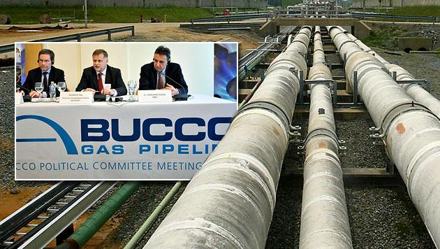 Kein Gas: Nabucco-Pipeline-Projekt ist gescheitert (Bild: EPA, AP, krone.at-Grafik)