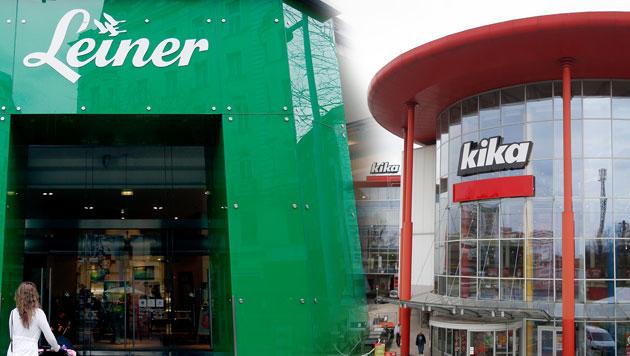 """Kika/Leiner weist Jobabbau """"vehement"""" zurück (Bild: APA/GEORG HOCHMUTH, krone.at-Grafik)"""