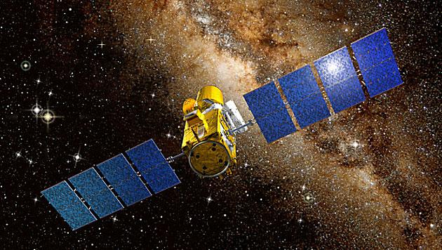 Das Satellitenteleskop CoRoT (Bild: CNES/D. Ducros)