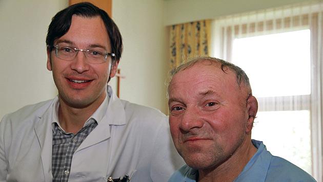 Opfer (63) bekam nach Hundeattacke ein neues Ohr (Bild: Christoph Gantner)