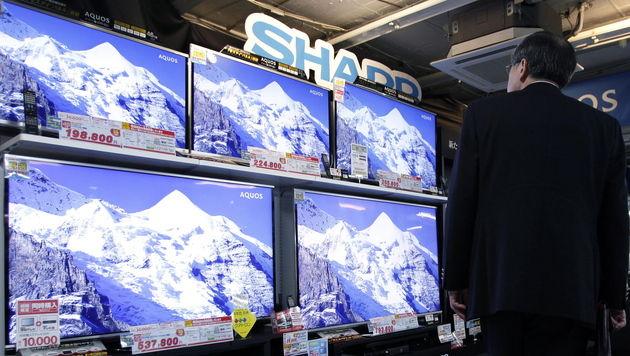 Sharp geht Bündnis mit chinesischer Staatsfirma ein (Bild: EPA)