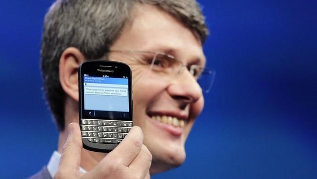 BlackBerry-Talfahrt dauert an: Heins bittet um Geduld (Bild: AP)