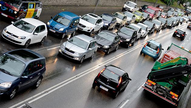 Die Großbaustellen auf Österreichs Autobahnen (Bild: APA/HERBERT NEUBAUER (Symbolbild))