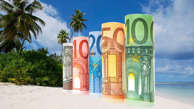 Österreicher geben für Sommerurlaub 2.200 Euro aus (Bild: thinkstockphotos.de, krone.at-Grafik)