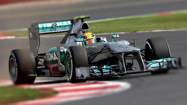 Hamilton holt sich Poleposition vor Rosberg und Vettel (Bild: EPA, krone.at-Grafik)