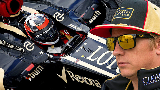 Knackt Räikkönen in Silverstone Schumi-Rekordserie? (Bild: EPA, krone.at-Grafik)