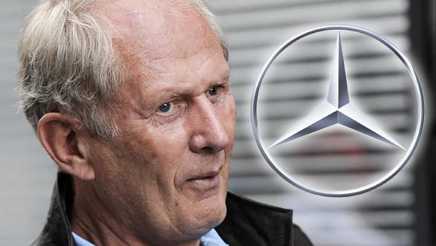 """Marko zu Mercedes-Spott: """"Ignorieren wir nicht einmal"""" (Bild: APA/ANDREAS PESSENLEHNER, Mercedes, krone.at-Grafik)"""