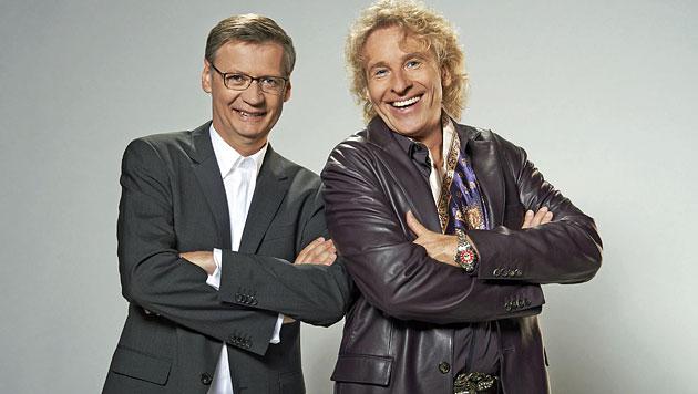 """Gottschalk & Jauch in neuer Show im Kampf """"gegen alle"""" (Bild: RTL/Ruprecht Stempell)"""